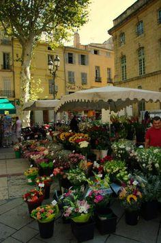 Flower markets Aix en Provence