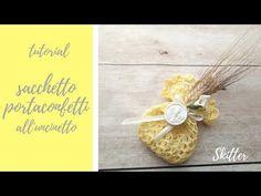 "tutorial:""sacchetto portaconfetti all'uncinetto"" - YouTube Make It Yourself, Video, Blog, Youtube, Wedding, Crate Decor, New Ideas, Make Soap, Sachets"