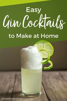 Are you a gin fan that wants something different to a G&T? Or maybe you have tried mixing a few drinks and feel ready to get into cocktails more! Then what you need are easy gin cocktails you can make at home. Here are some tasty classics and modern tw Cocktail Vodka, Easy Gin Cocktails, Classic Gin Cocktails, Cocktails To Make At Home, Gin Cocktail Recipes, Gin Fizz, Gin Recipes, Craft Gin, Cocktail Making