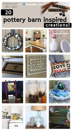 Create some stunning pottery barn inspired creations!