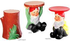 kartell saint esprit gnome stool. Designed by Philippe Starck