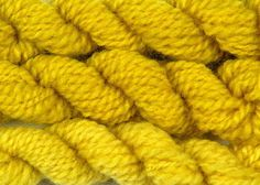handspun wool dyed with weld natural plant dye