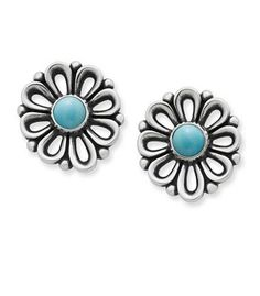 New De Flores Ear Posts with Turquoise from James Avery Jewelry James Avery Earrings, Flower Meanings, Turquoise Earrings, Jewelry Organization, Natural Gemstones, Gifts For Her, Avery Jewelry, Jewelry Box, Things To Sell