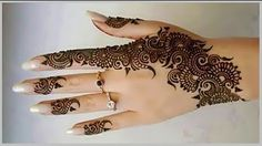 mehndi designs backhand - YouTube
