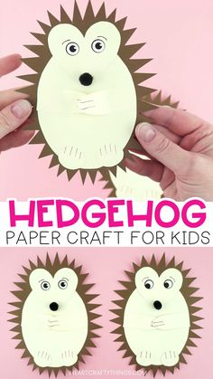 How to Make a Cute Paper Hedgehog Craft Head over to our website for the full how-to tutorial and grab the free template to make this adorable paper hedgehog craft. Fun and easy fall kids craft and scissor cutting activities for preschoolers. Fall Crafts For Toddlers, Autumn Activities For Kids, Easy Fall Crafts, Halloween Crafts For Kids, Paper Crafts For Kids, Cutting Activities For Kids, Summer Crafts, Toddler Crafts, Halloween Fun