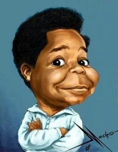 Gary Coleman as Arnold Jackson in Diff'rent Strokes Funny Caricatures, Celebrity Caricatures, Cartoon Kunst, Cartoon Art, Cartoon Faces, Funny Faces, Black Art Pictures, Funny Pictures, Gary Coleman