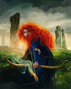 """""""Brave Merida"""" by Jim Salvati -   Original Oil on Canvas 