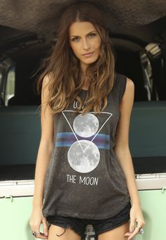 T-shirt Love By The Moon » Blusas