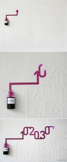Creative ink calendar.