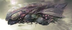 Alien Spaceship, Spaceship Design, Aliens, Starcraft Zerg, Alien Crafts, Starship Concept, Sci Fi Spaceships, Alien Design, Alien Concept Art