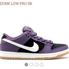 """Nike SB Dunk Low Pro in """"Dark Raisin"""" WORN 3x MAX! In excellent condition! Nike SB Dunk Low Pro """"Dark Raisin"""" is sold out everywhere. These are an amazing pair of dunks that need a new home! SIZE 6.5 MEN'S, SIZE 8 WOMEN'S. Nike Shoes Sneakers"""