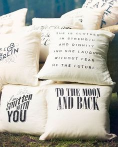 Decorative Pillows with cool words on them