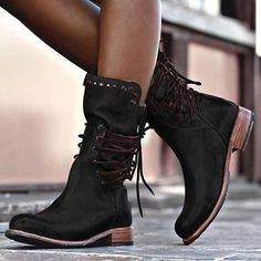 Biker Boots, Buckle Boots, Motorcycle Boots, Flat Heel Boots, Shoe Boots, Women's Boots, Riding Boots, Black Boots Flat, Combat Boots