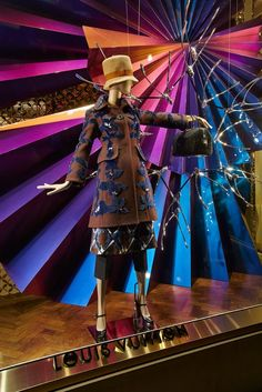 Louis Vuitton: A Charming Christmas, New Bond Street, London Love the colors
