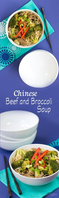 A healthy delicious dinner in minutes with his 15-Minute Chinese Beef and Broccoli Soup. It tastes like the classic take-out dish but as a soup!