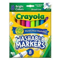 """Crayola Broad Line Washable Markers - 8-Pack -  Crayola - Toys""""R""""Us"""
