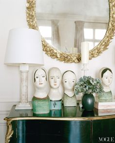 ∷ Variations on a Theme ∷ Collection of quirky ceramic busts