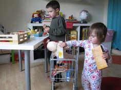 11. Pretend Play Grocery Store (money adding practice)