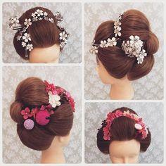 やっぱり和装花嫁は日本髪が素敵。 #花嫁#プレ花嫁#日本髪#鬘#和装#白無垢#色打掛#ブライダルヘア#ヘアアレンジ#メゾンドマリアージュ#京美容室#上越美容室#ブライダル福嶋