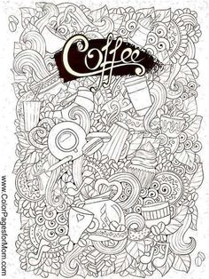 Coffee Coloring Page For Adults Mas