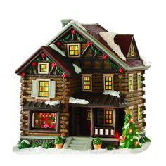 Log Cabin Christmas, Christmas Tree Village, Elf Christmas Decorations, Christmas Village Collections, Gingerbread Village, Christmas Gingerbread House, Christmas Villages, Diy Christmas Village Displays, Christmas Houses
