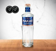 Explore more about Makar Gin items and spirits at The Glasgow Distillery Company Ltd Vodka Bottle, Water Bottle, Gin Distillery, Craft Gin, Bottle Images, New Crafts, Healthy Drinks, Glasgow, Wine Recipes