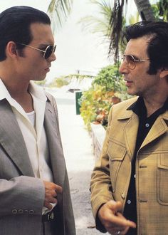 Al Pacino and Johnny Depp in Donnie Brasco, directed by Mike Newell.