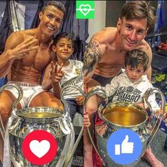 Who is the king of the Champions League? Football Photos, Champions League, Messi, Ronaldo, King, Baseball Cards, Sports, Hs Sports, Sport