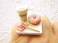 SouZouCreations on Etsy makes MINI FOOD RINGS.  Seriously!  Too adorable.