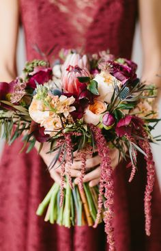 Garnet Bridesmaid Bouquet