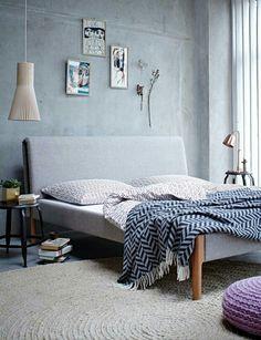 Schlafzimmer Skandinavisch Beton