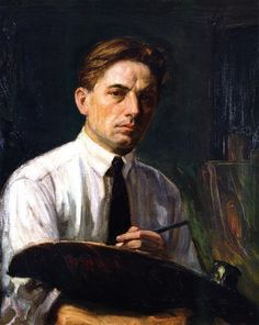 'Self Portrait' by Joseph Kleitsch, 1919. Oil on canvas, Private collection.