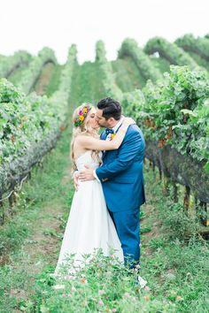 vineyard wedding - photo by Lushana Bale Photography http://ruffledblog.com/colorful-bohemian-wedding-in-ontario