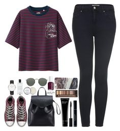 """""""It's meant to be."""" by whisperofregret ❤ liked on Polyvore featuring Uniqlo, Topshop, Converse, Loeffler Randall, Bobbi Brown Cosmetics, Urban Decay, Bling Jewelry, Essie, Ray-Ban and Herbivore"""