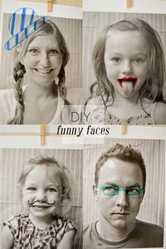 {DIY Funny Faces} This project idea would make an adorable #FathersDay card.
