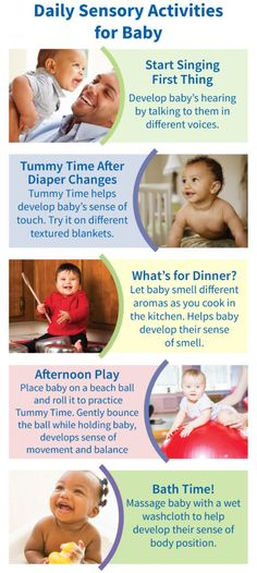 Try these simple sensory activities that you can easily incorporate into baby's routine!