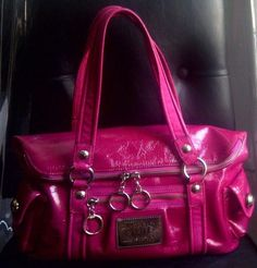 Authentic Coach Poppy Starlet Patent Leather Satchel Purse 13832 Pink $348 -RARE…