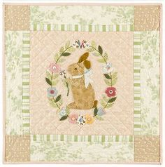 Emily needs a bunny quilt    Garden Bunny Quilt Pattern by Bunny Hill Designs