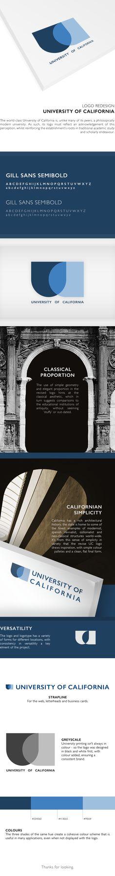 University of California - Logo Redesign by Oliver Wilson, via Behance #Redesign #Logo #Identity #Branding