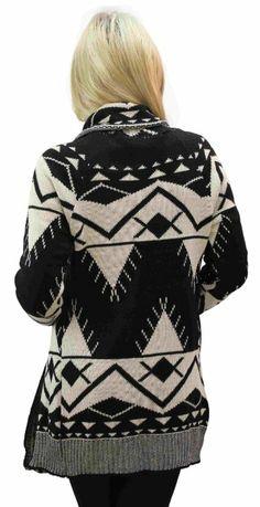 Amazon.com: Aztec Long Sleeve Chuncky Open Cardigan Plus size: Clothing