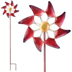 Add Color to Your Outdoor Garden Spaces with Wind Spinners - The Classy Chics Kinetic Wind Spinners, Classy Chic, Garden Spaces, Giveaways, Outdoor Decor, Color, Metal, Art, Art Background