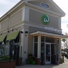 Wahlburgers - Hingham, MA, United States. This was taken outside of the restaurant. It's in a great area right on the water.