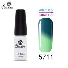 1pcs Thermo Varnishes Gel Polish Soak Off Mood Color Temperature Change LED UV Gel Nail Polish 7ml