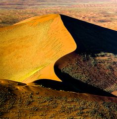 Dunes from above, Namib Desert | Namibia (by Christopher R....