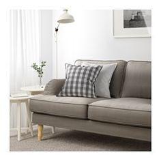 STOCKSUND Sofa, Nolhaga gray-beige, light brown/wood - Nolhaga gray-beige - light brown - IKEA