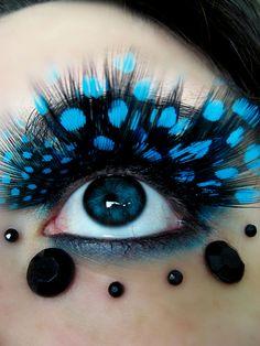 Blue eyes-blue feathers