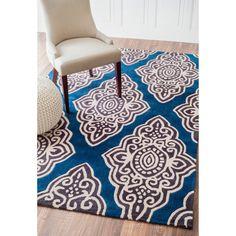 nuLOOM Handmade Modern Geometric Blue Rug (7'6 x 9'6) - Overstock™ Shopping - Great Deals on Nuloom 7x9 - 10x14 Rugs