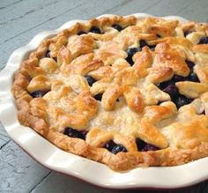 """Blueberry Pie with Sweet Almond Crust: """"The almonds in the crust create a slightly more brittle, but exquisitely flaky crust, and the amaretto deepens the sweet, nutty flavor. It was a superb crust!"""" -spicyperspective"""