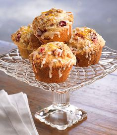 Cranberry-orange streusel muffins. Perfect for Christmas morning