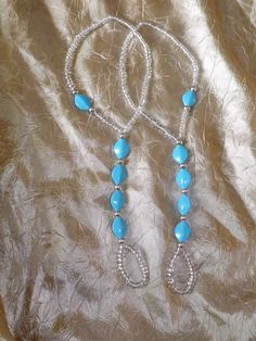 Barefoot sandals Blue Foot jewelry Anklet by SubtleExpressions